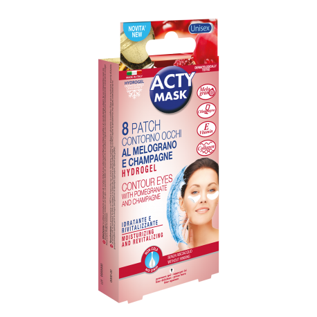 ACTY MASK - 8 patchs contour des yeux Grenade & Champagne