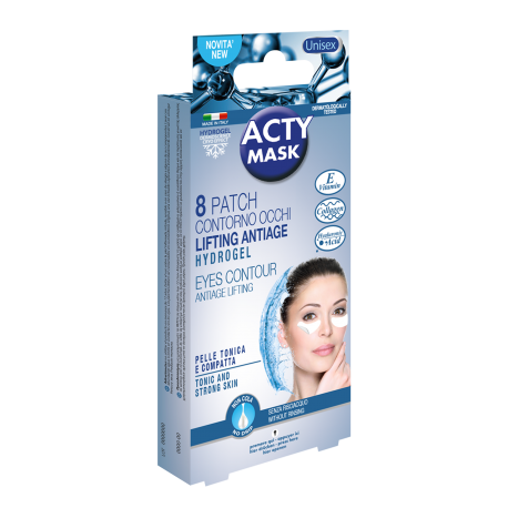 ACTY MASK - 8 Patchs Hydrogel Contour des Yeux Lifting anti-age