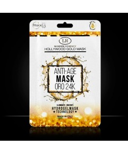 Hollywood Gold- Masque tissu anti-age à l'or 24k