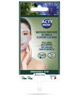 Masque nettoyant à l'argile - 3 applications